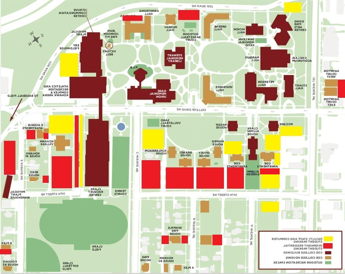 available parking spaces on 安科's Campus